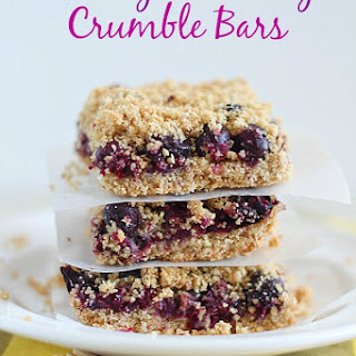 Skinny Blueberry Crumble Bars