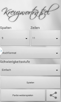 Screenshot of Kreuzworträtsel Deutsch