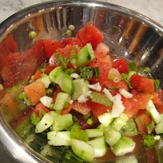 Cucumber & Melon Salad with Mint