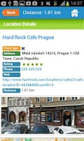 Screenshot of Prague Guide Hotel Map Weather