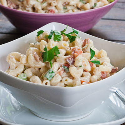 American Macaroni Salad with Bacon