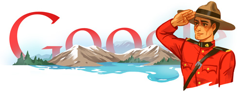 Google Doodle 140th Anniversary of the RCMP