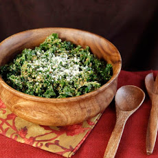 Garlicky Kale Parmesan and Panko Salad