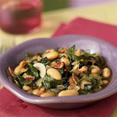 Escarole with Bacon and White Beans