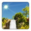 True Weather, Waterfalls a is live wallpaper with stunning scenery & forecasts