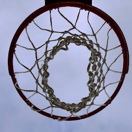 All net! by Judy Dean - Sports & Fitness Basketball ( basketball, sports, game, net, rim )