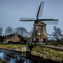 by Lisa Coletto - Landscapes Travel ( volendam, netherlands, windmill )