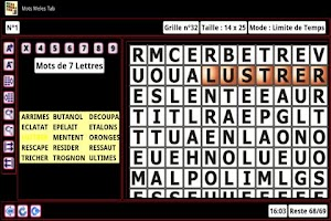 Screenshot of Word Search Tab 1 FR