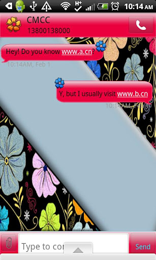 GO SMS THEME ColorfulFlowers