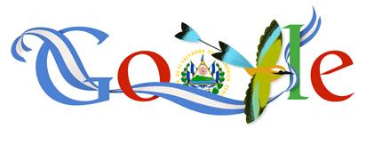 Google Doodle El Salvador Independence Day 2013