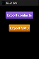 Screenshot of Export Contacts & Data in CSV