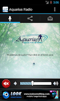 Screenshot of Aquarius Radio por Internet