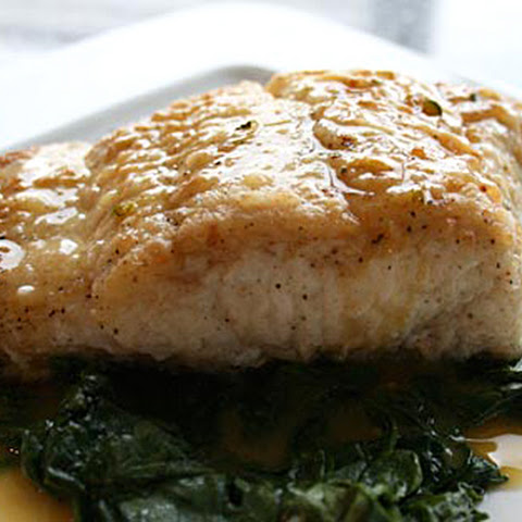 Halibut with Citrus Butter Sauce