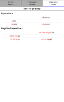 Screenshot of Easy Spanish Verbs