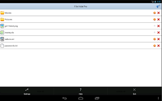 Screenshot of File Hide Pro