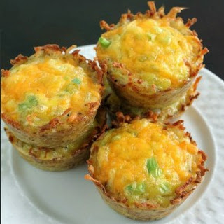 Cheddar Onion Hash Brown Cups