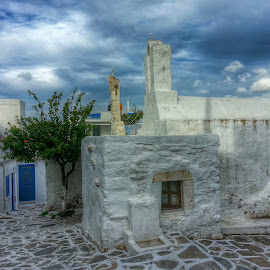 Winter in Paros by Eva Ba - Instagram & Mobile Android ( clouds, sky, winter, church, parosgreece, island )