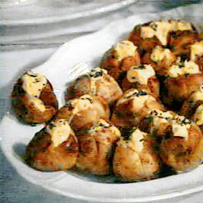Salt-crusted Mini Baked Potatoes with Cold Chive Hollandaise