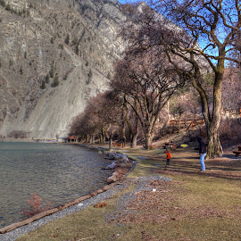 A Cold Winter's Day by Dallas Kempfle - Landscapes Beaches ( water, winter, mountain, hdr, best place on earth, lake, beautiful bc, seton lake, bc, lillooet )