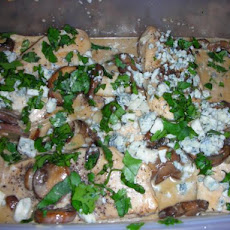 Mean Chef's Chicken With Marsala, Mushrooms and Gorgonzola