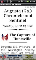 Screenshot of 1862 May Am Civil War Gazette