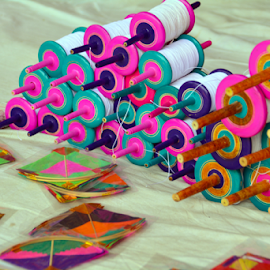 by Rajat Sethi - Artistic Objects Toys ( kite flying, colors, sports, india, kites )