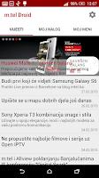 Screenshot of m:tel Droid