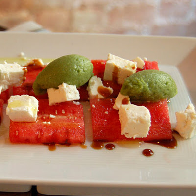 Watermelon Feta Salad with Mint Sorbet