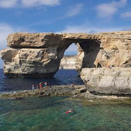 azure window by Jelena Brankovic - Landscapes Caves & Formations ( window, malta, gozo, azure )
