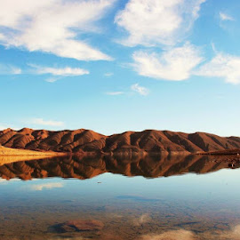 by Dan Bishop - Landscapes Mountains & Hills ( calm, water, reflection, mountain, calmness, waterscape, lake, africa )