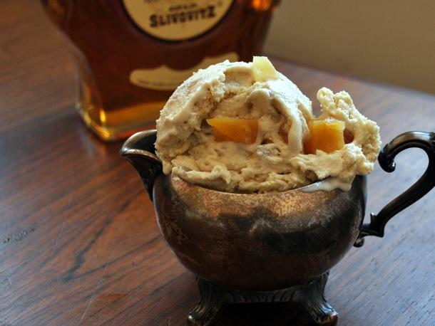 Lemon, Honey, and Brandy (or Guggle Muggle) Ice Cream