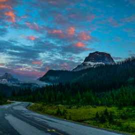 Yoho NP Road Sunset by Pamela Bakowski - Landscapes Mountains & Hills ( park road, canada, sunset, yoho,  )