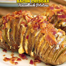 Bacon Cheddar Hasselback Potatoes