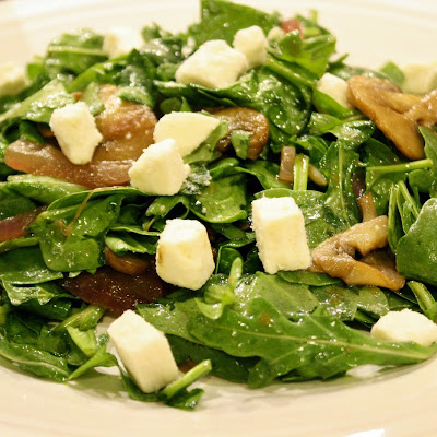 Warm Balsamic Spinach Salad With Feta