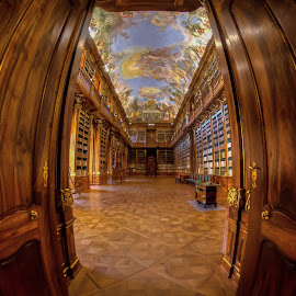 Library in Strahov Monastery, Prague by Tzvika Stein - Buildings & Architecture Other Interior ( books, monastery, library, prague )