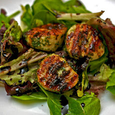 Grilled Scallops with Mint Pesto and Balsamic Syrup