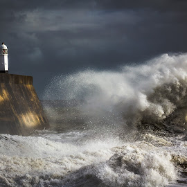 Any port in a storm by Tim Mccombie - Landscapes Weather ( penarth, porthcawl )