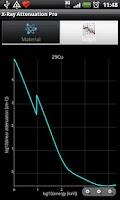 Screenshot of X-Ray Attenuation Calculator