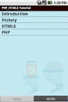Screenshot of Html5 & Php Tutorial