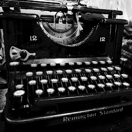 Black Beauty by Barbara Brock - Artistic Objects Antiques ( communication, writing, vintage typewriter, old typwriter )