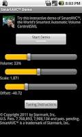Screenshot of SmartAVC™ Demo