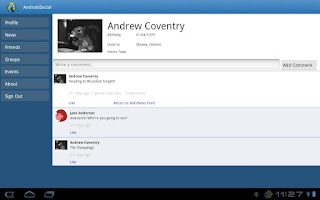 Screenshot of AndroidSocial for Facebook