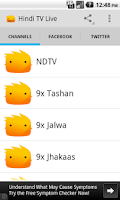 Screenshot of Hindi TV Live