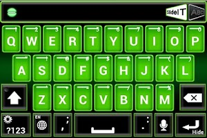 Screenshot of SlideIT Green Neon Skin