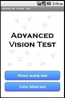 Screenshot of Advanced Vision Test