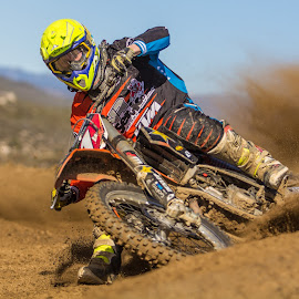 Cornering hard by Connor Moore - Sports & Fitness Motorsports ( canon, motocross, moto, sports, action, photography, cahuilla )
