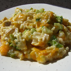 Mom's Cheesy Broccoli Rice Casserole