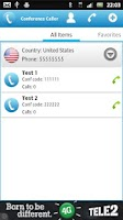 Screenshot of Conference Caller