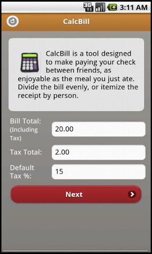 CalcBill Free