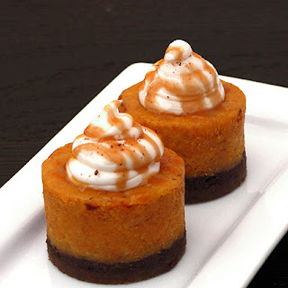 Spiced Pumpkin Cheesecake with Bourbon Whip Cream